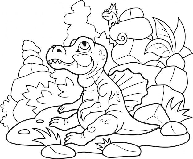 Cartoon spinosaurus Premium Vektoren
