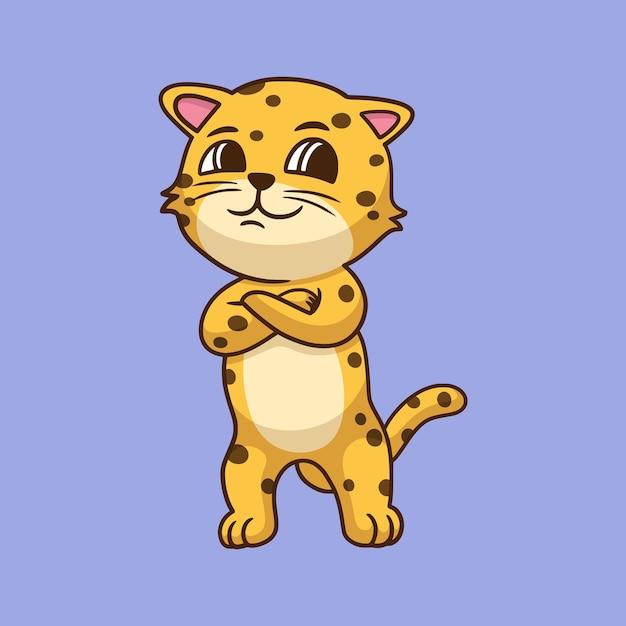 Cartoon tier leopard Premium Vektoren