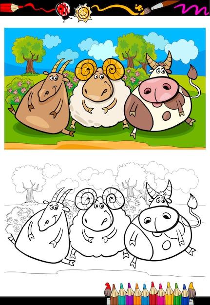 Tolle Tiere Auf Der Farm Färbung Seite Galerie - Beispiel ...