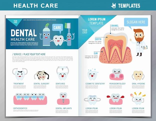 Cartoon zahnarzt und patient illustration. zahnpflege. Premium Vektoren
