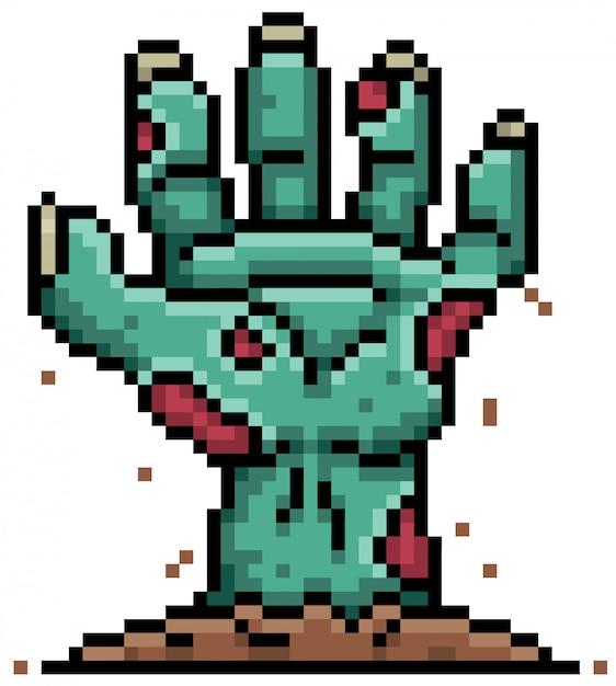 Cartoon-zombie-pixel-design Premium Vektoren