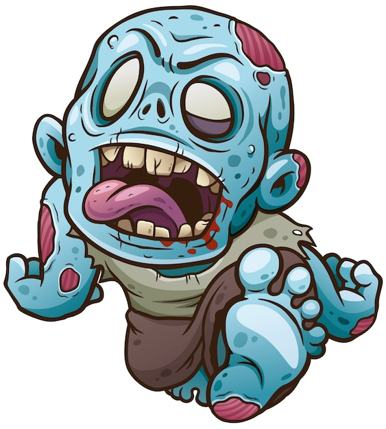 Cartoon zombie Premium Vektoren