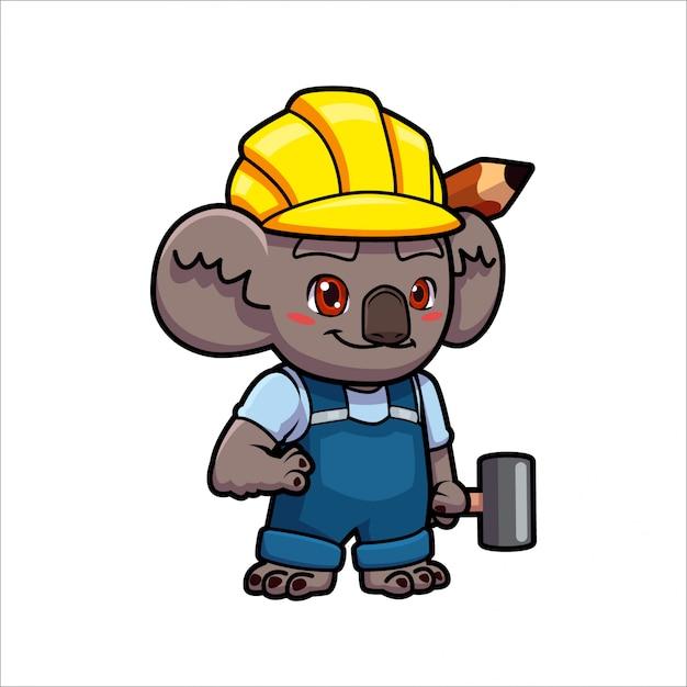 Cartoonbuild koala Premium Vektoren