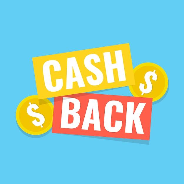 Cash back aufkleber Premium Vektoren