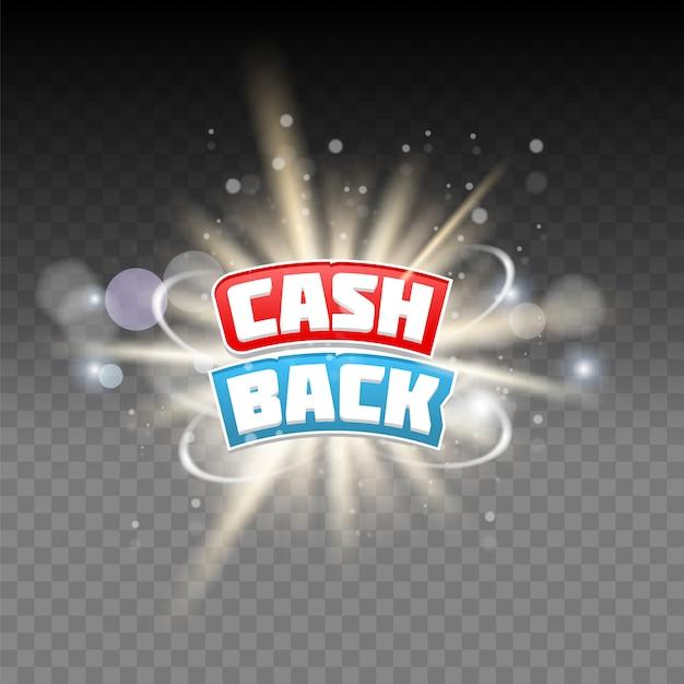 Cash-back-schriftzug Premium Vektoren