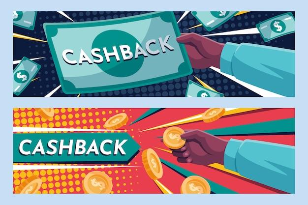 Cashback banner web vorlage Kostenlosen Vektoren