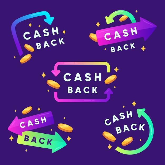 Cashback-etikettensammlung Kostenlosen Vektoren