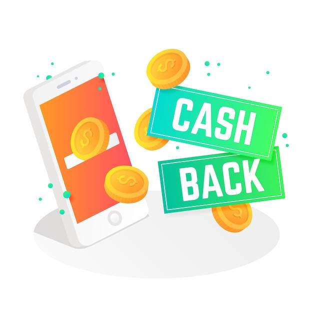 Cashback-konzept Kostenlosen Vektoren