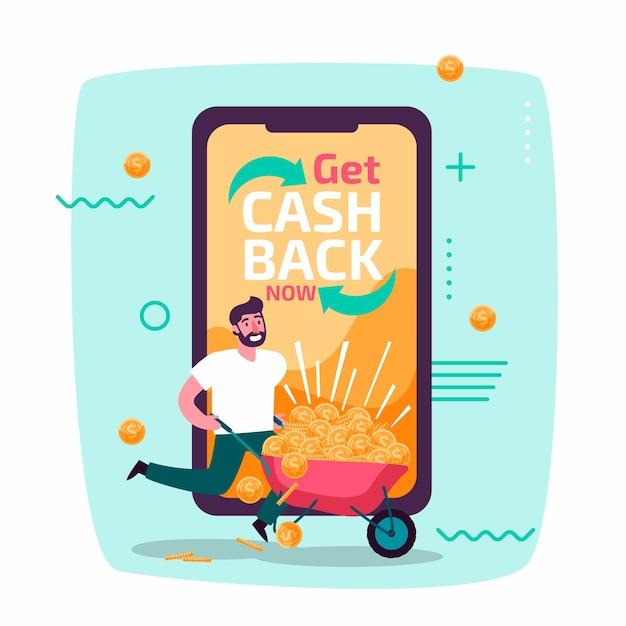 Cashback-konzept Premium Vektoren