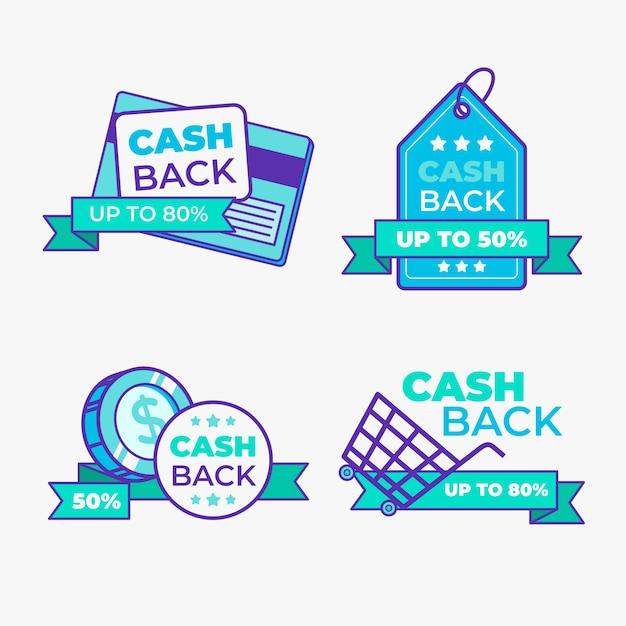 Cashback label sammlung thema Kostenlosen Vektoren