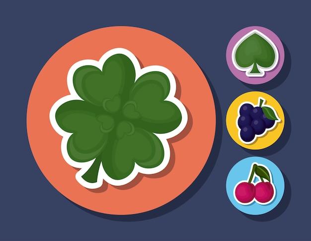 Casino ähnliche symbole Kostenlosen Vektoren