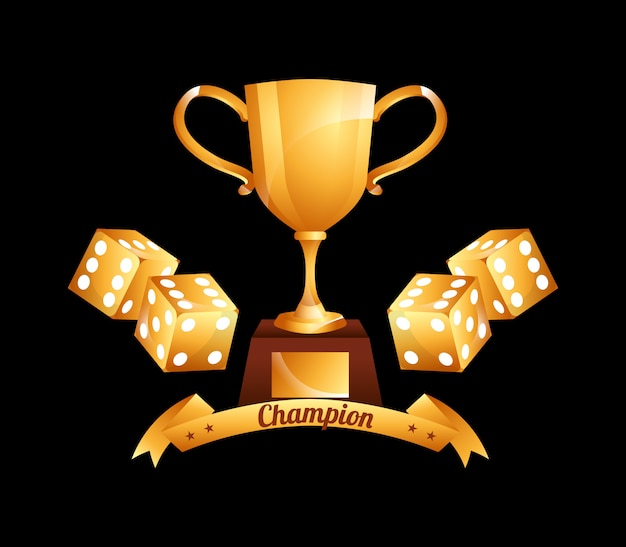 Casino champion abbildung Kostenlosen Vektoren