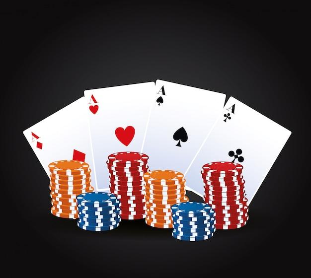Casino-glücksspiel Premium Vektoren