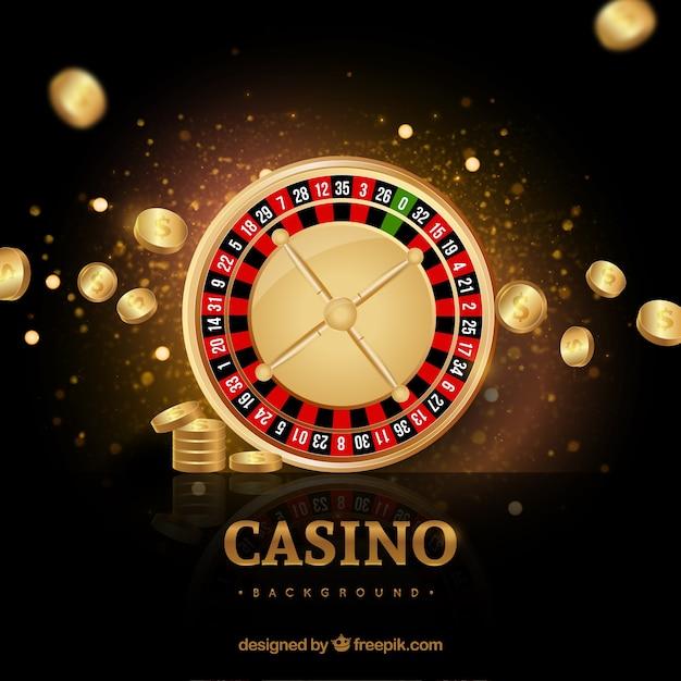 Casino goldenen hintergrund Kostenlosen Vektoren