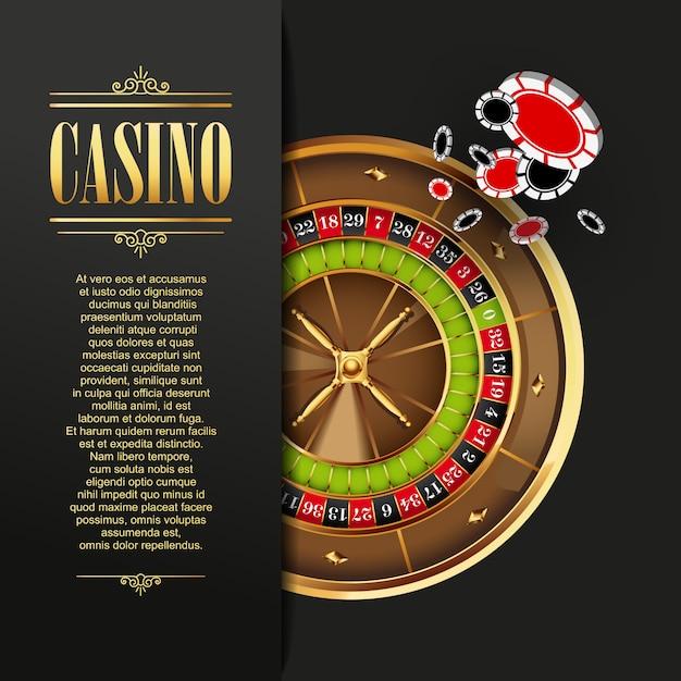 Casino hintergrund vektor-illustration Premium Vektoren