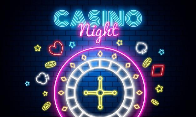Casino nacht hintergrund. Premium Vektoren