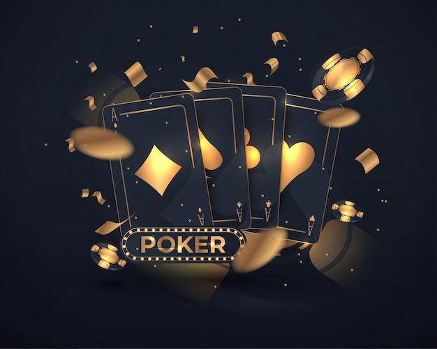 Casino poker kartendesign Premium Vektoren