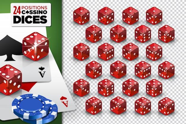 Casino-spiel würfelt Premium Vektoren