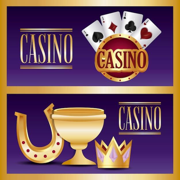 Casino-spiel Kostenlosen Vektoren