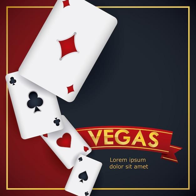 Casino-spieldesign. Premium Vektoren