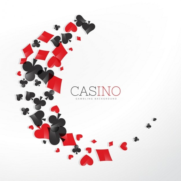 Casino-spielkartenelemente in wellen stil Kostenlosen Vektoren
