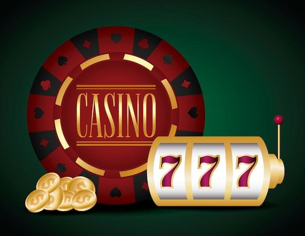 Casino und jackpot Kostenlosen Vektoren
