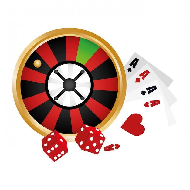 Casino verwandte clip-art-bild Kostenlosen Vektoren