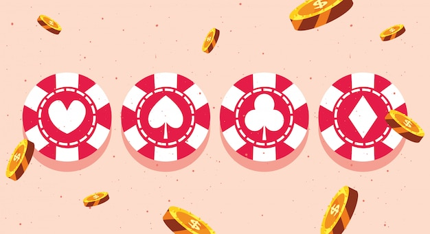 Casino-wetten Premium Vektoren