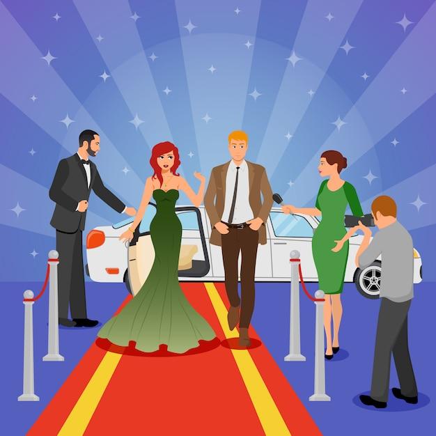 Celebrity design zusammensetzung Kostenlosen Vektoren