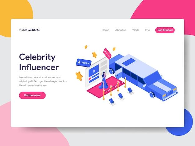 Celebrity influencer illustration Premium Vektoren
