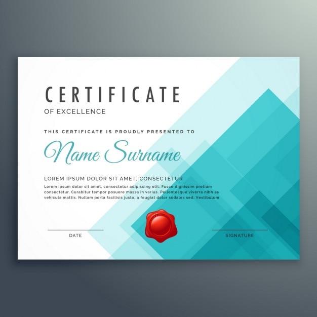 Certificate of excellence vorlage Kostenlosen Vektoren