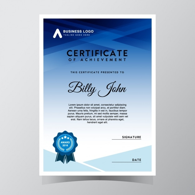 Certificate template-design Kostenlosen Vektoren