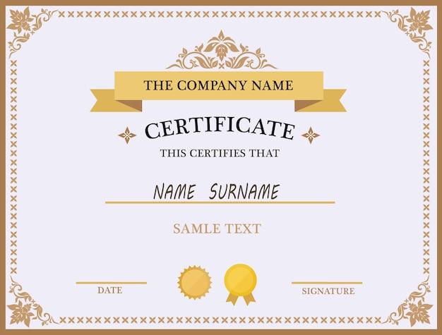 Certificate Template-Design Kostenlose Vektoren