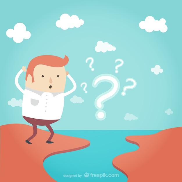 Challenge-konzept cartoon Kostenlosen Vektoren