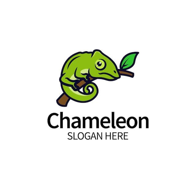Chamäleon logo design vorlage Premium Vektoren