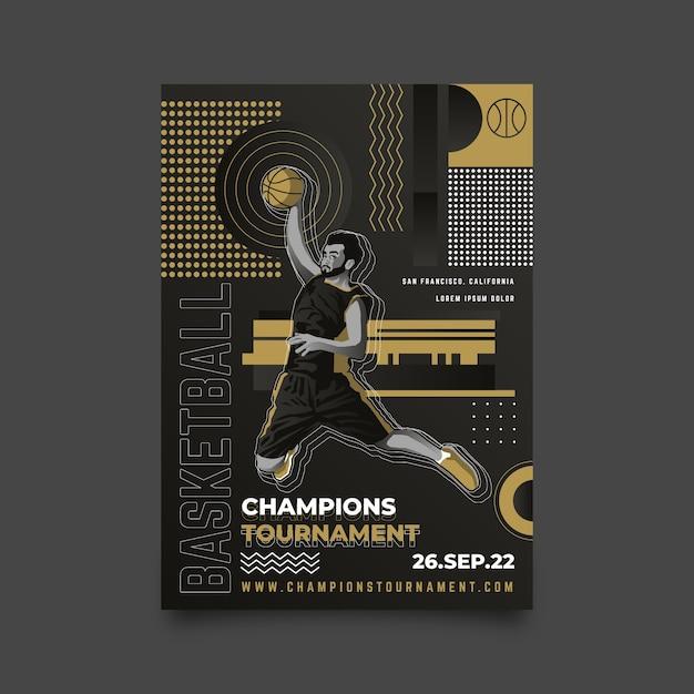 Champions turnier poster design Kostenlosen Vektoren