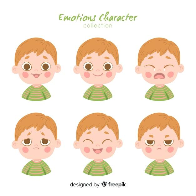 Charakter zeigt emotionen Kostenlosen Vektoren