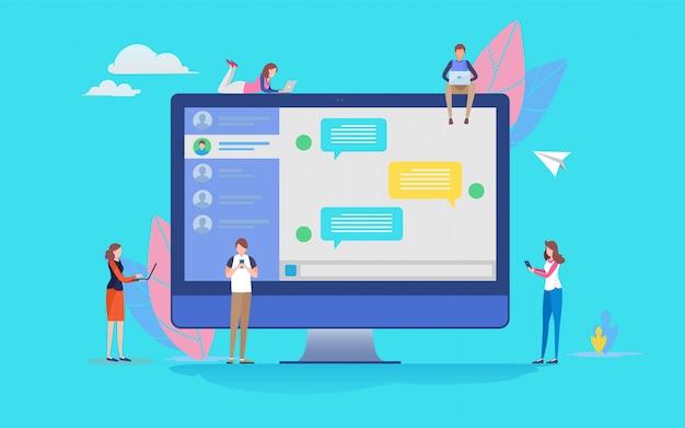 Chat-anwendung Premium Vektoren