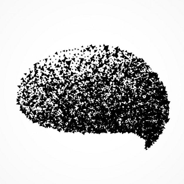 Chat-blase in abstrakten teilchen stil Kostenlosen Vektoren