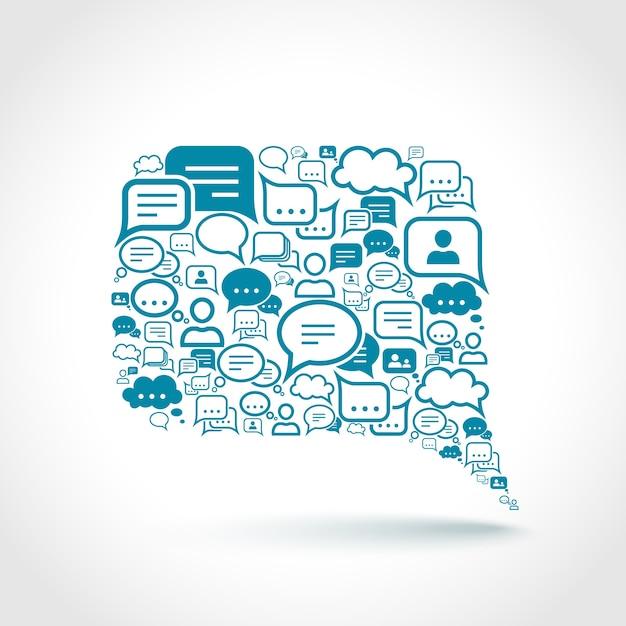 Chat-elemente Kostenlosen Vektoren