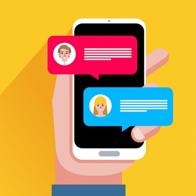 Blasen Auf Dem Handy In Pov