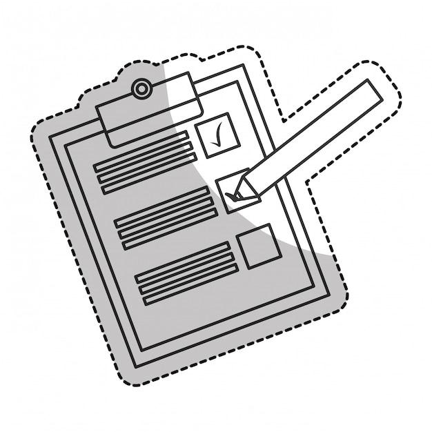 Checkliste mit häkchen Premium Vektoren