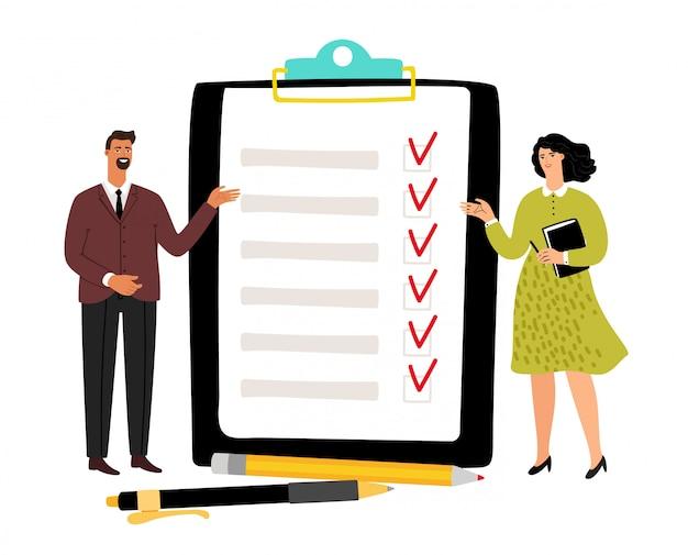 Checklisten-konzeptillustration Premium Vektoren