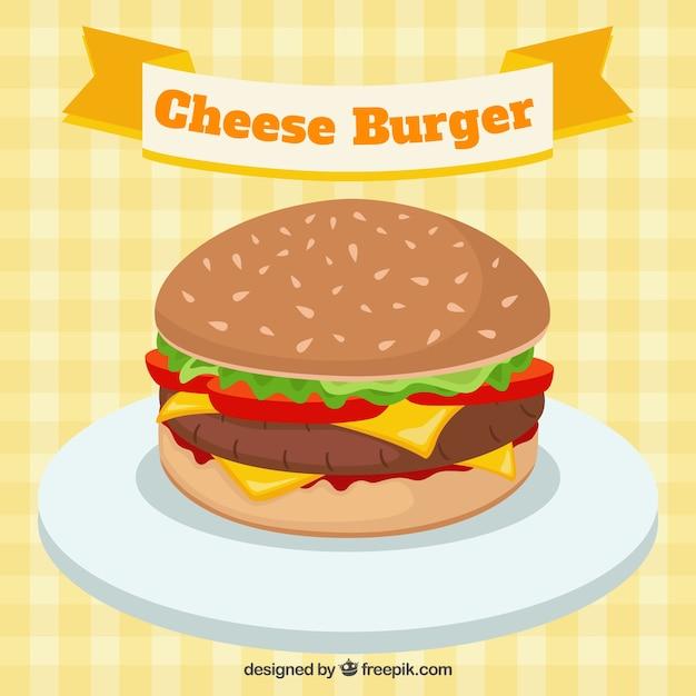 Cheese burger Kostenlosen Vektoren