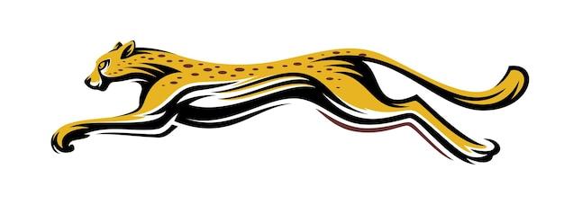 Cheetah fast run logo vektor Premium Vektoren