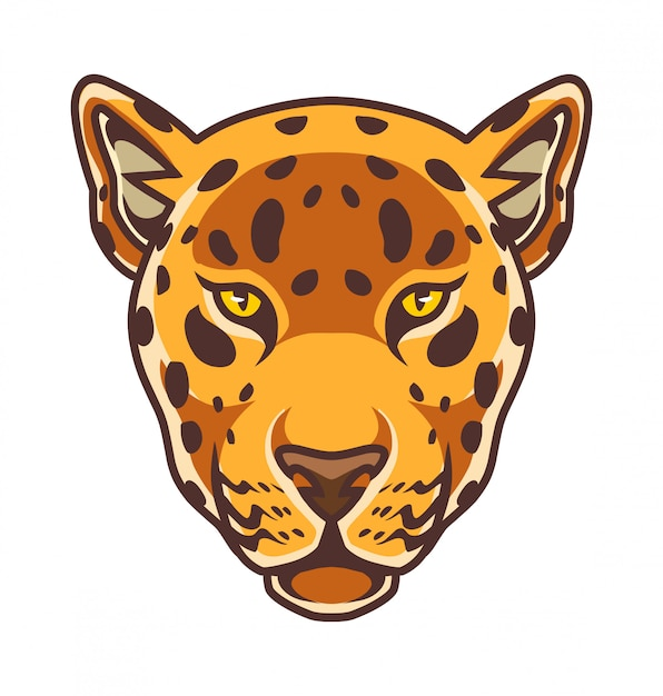 Cheetah kopf maskottchen logo Premium Vektoren
