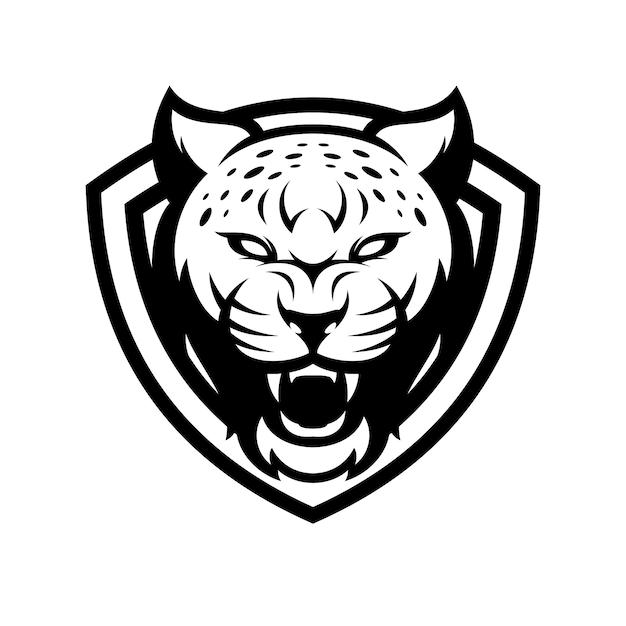 Cheetah tier sport maskottchen kopf logo vektor Premium Vektoren