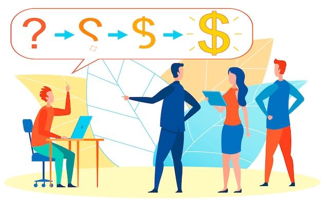 Chef, der auf lieblings-, leistungsfähigste arbeitskraft zeigt Premium Vektoren