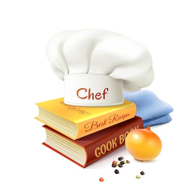 Chef und kochen konzept Kostenlosen Vektoren