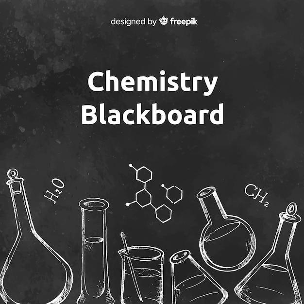 Chemie auf tafel Kostenlosen Vektoren
